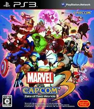 Used PS3 Marvel VS. Capcom 3 Fate of Two Worlds Import Japan、