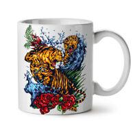 Wild Tiger NEW White Tea Coffee Mug 11 oz | Wellcoda