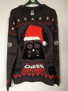 """star wars"" mens christmas jumper size L"
