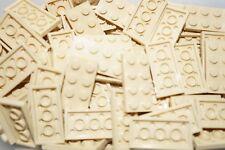 LEGO 30 x BEIGE/TAN PLATE BRICKS 2x4 ID 3020 (STAR WARS, CITY, FRIENDS) NEW!!