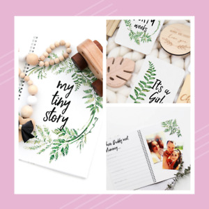 Baby Memory Journal with Baby & Pregnancy Milestone Cards - Fern Design