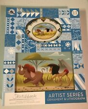Disney Jungle Book Artist Series Sketchbook Ornament and Lithograph Set. Le 3700