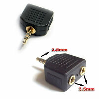 3.5mm Stereo Jack Splitter Adapter 1 Plug to 2 Sockets