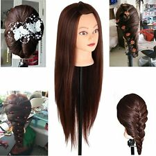 "29"" Long Hair Cosmetology Mannequin hairdressing Training Head Model with Clamp"
