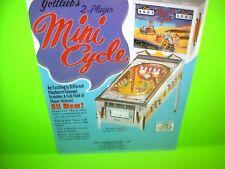 Gottlieb MINI CYCLE 1970 Original Flipper Arcade Game Pinball Machine Sale Flyer