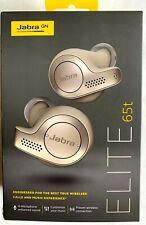 Jabra Elite 65t True Wireless Bluetooth Earbud Headphones - Beige Gold - NEW
