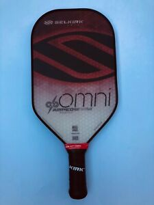 Selkirk Sport Pickleball Paddle Omni AMPED *Double Grip* Red Midweight New