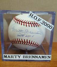 MARTY BRENNAMAN Original Autographed OML Rawlings Baseball Inscribed HOF 2000