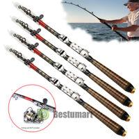 Ultralight Carbon Fiber Telescopic Fishing Rod Strong Ergonomic Pole Saltwater