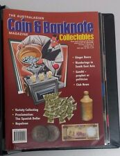 The Australasian Coin & Banknote Magazine Year 2000 - 2001 Set of 11 in Binder.
