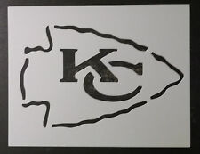 "KC Kansas City Chiefs Football 11"" x 8.5"" Custom Stencil FAST FREE SHIPPING"