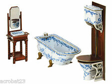 Furniture for Dolls BATHROOM Dollhouse Miniature Scale 1:12 Model Kit Сardboard
