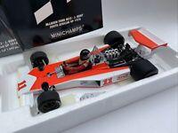McLAREN Ford M23 F1 model race car James Hunt SA 1976 1:18th MINICHAMPS 761831
