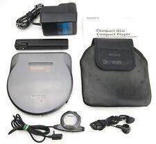 Sony D-777 Discman ESP + Battery Pack + Power + Remote + Headphones + Carry Case