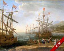TROJAN WOMEN SET FIRE TO THEIR SHIPS VIRGILS AENEID PAINTING ART CANVAS PRINT