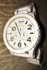 NIXON A083-1035 A0831035 Watch Mens 51-30 CHRONO ALL WHITE/GOLD FREE SHIPPING!!!