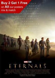 Marvel Eternals 2021 Movie Poster A5 A4 A3 A2 A1