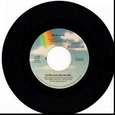 ELTON JOHN & KIKI DEE TRUE LOVE/RUNAWAY TRAIN W/ ERIC CLAPTON 45RPM VINYL