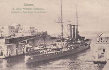 c1910 Rare Navy Ship Italian battleship Vittorio Emanuele Postcard Real Photo