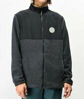 Dark Seas x Grundens Black Polar Fleece Jacket Size Medium
