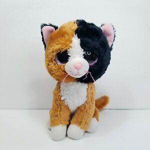 "9"" Beanie Boos Tauri the Calico Cat Stuffed Plush Animal Black Orange White Gift"