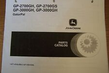 JOHN DEERE PARTS CATALOG FOR GATORS GP-2700GH, GP-2700GS, GP-3000GH & GP-3000GH