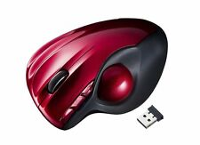 Brand New Sanwa MA-WTB43R Wireless Trackball Mouse Laser RED Japan