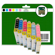 6 Cartouches d'encre pour Epson R200 R220 R300 R300M R320 R340 non-OEM e481-6