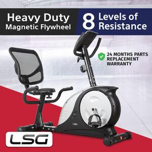 Recumbent Magnetic Exercise Bike Lifespan 200 KG Max User Weight