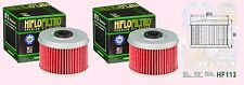 2x HF113 Oil Filter Honda VT  VT125 C,C2 Shadow  1999 to 2008