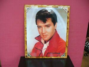 "Elvis Presley Rare 18"" x 22"" Laquered on Wood Print 1970"