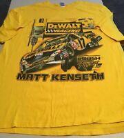 NASCAR Matt Kenseth #17 Dewalt Racing Men's T-Shirt Size XL Yellow