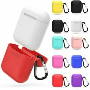New Silicone TPU Soft Skin Case For Apple Airpods 1 2 Earphones Charger Cover