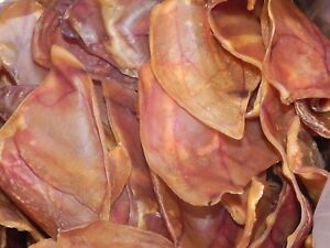 PIG EARS 100% Aust Dehydrated PIG EARS 10,25,50,75 - Free Post