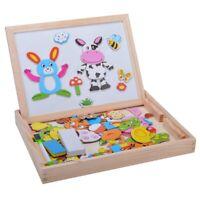 Baby Lernspielzeug Staffelei Magnetic Doodle Kinder aus Holz Zeichnung Tafe B4J5