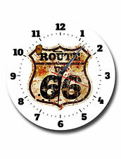 ROUTE 66,CLASSIC,ROUND METAL,WALL CLOCK,573