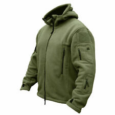 Tactical Recon Fleece Jacket Army Hoodie Security Police Hoody Combat Full Zip