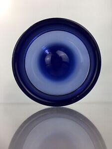 Holmegaard Per Lutken Rare Fried Egg Bowl Ashtray Scandinavian Signed Art Glass