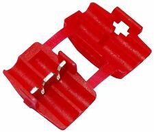 6x Cosse connecteur raccord électrique rapide 0.75-2.5mm2 isolée rouge