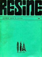 RESINE N. 10 QUADERNI LIGURI DI CULTURA LUGLIO - SETTEMBRE 1974
