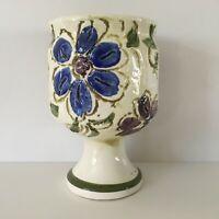 Vintage Napcoware Floral Ceramic Goblet Planter Vase Cup C-8765 Import Japan