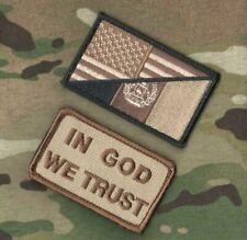 AFG-PAK JSOC SFG ODA JTF SEAL SAS vêlkrö 2-PATCH: US/AFG FLAG + IN GOD we TRUST