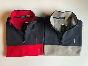 NEW POLO RALPH LAUREN DOUBLE KNIT HOODIE PULLOVER FRONT POCKET SWEATER QR CODE