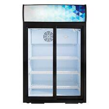 """24.75"""" Countertop Display Refrigerator Sliding Door Merchandiser Etl Cooler New"""