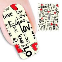 Pegatinas stickers nails Nº 7  decoración uñas, nail art XF1294 San valentin,