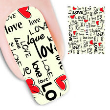 Pegatinas stickers nails Nº 7  decoración uñas, nail art XF1294 San valentin,