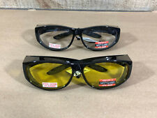 (2) Global Vision Escort Motorcycle Riding ATV Goggles Safety Over Glasses