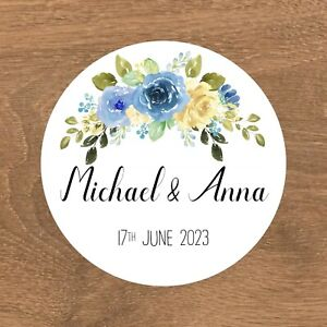 Personalised Wedding Stickers Favour Labels (A-004)