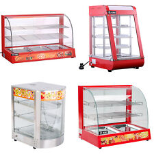 More details for hot food warmer display commercial cabinet showcase pizza bread warming counter