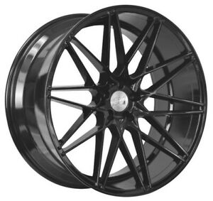 "20"" 1AV ZX4 Alloy Wheels 5x112 Black Machined fits Mercedes E Class"